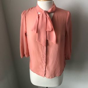Forever 21 peach size small blouse